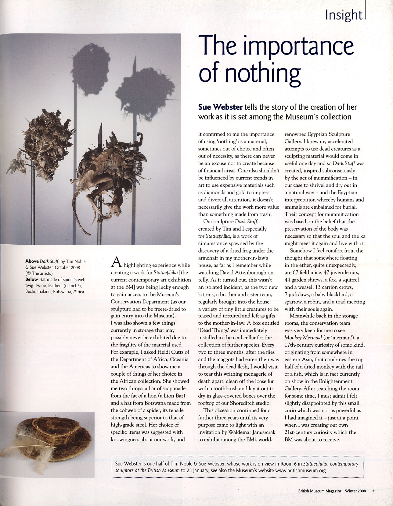 British Museum magazine, Winter 2008, pg 5